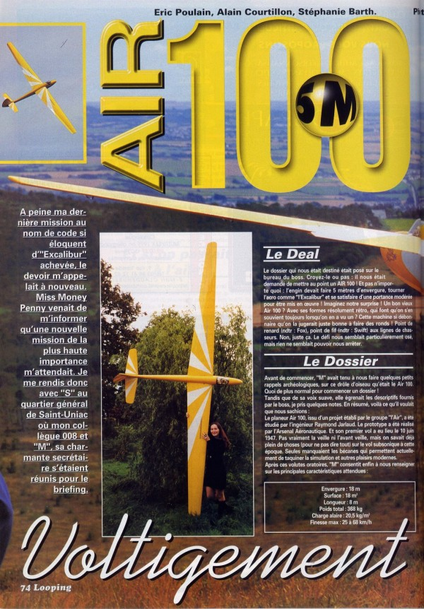 The Air-100 as featured in Looping Magazine